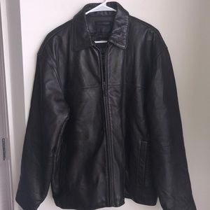 Claiborne Lambskin Leather Jacket Zip Lined M